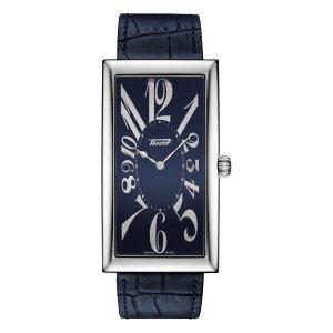 正規品ティソ腕時計T117.509.16.042.00ティソヘリテージバナナセンテナリー日本スペシャルモデル紺色文字盤/紺色カーフストラップ(クォーツモデル)メーカー2年保証TISSOT−T1175091604200
