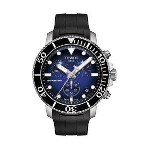 正規品ティソ腕時計T120.417.17.041.00/青文字盤/ラバーバンド(クォーツクロノ)/TISSOTSEASTAR1000CHRONOGRAPH(メンズ)/メーカー2年保証TISSOT−T1204171704100【送料無料】