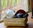 茶和家 日常茶事の愉しみ お茶始め 茶器セット【3人用/7品:急須、湯呑、茶托、茶筒、茶さじ、お茶、籠 】