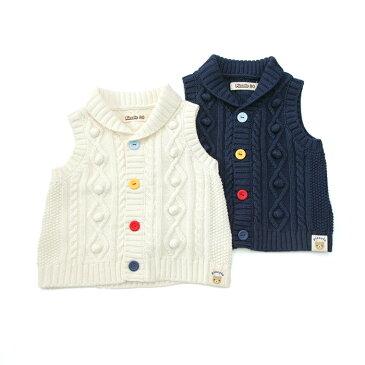 【あす楽】Piccolo (ピッコロ ) ニットベスト (70〜90cm) 男の子 秋物 70 80 90 キムラタンの子供服