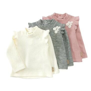 bd9b43c9a6389  あす楽 Lily ivory (リリー アイボリー ) ハイネックTシャツ (80〜
