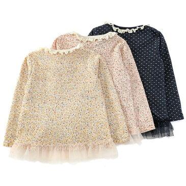 【あす楽】Biquette (ビケット ) 長袖Tシャツ (80〜130cm) 女の子 秋物 80cm 90cm 95cm 100cm 110cm 120cm 130cm キムラタンの子供服