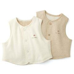 ◆出産祝い・出産準備にベビー服◆愛情設計 【日本製】リバーシブルベスト(50~80cm)