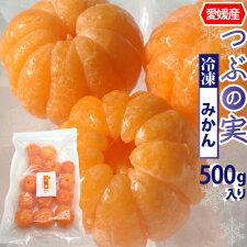 白綿を取り除いた冷凍みかん。丸ごと食べられます。愛媛県産つぶの実冷凍みかん500g丸まま