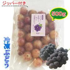 【冷凍】愛媛産冷凍ぶどう粒楽500g一粒ごと分かれてます。粒楽つぶらく
