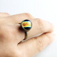 ダイクロしずく指輪01u-di01-4