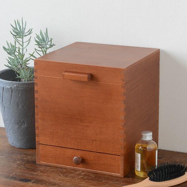 倉敷意匠 ツガの化粧ボックス[17092-03]