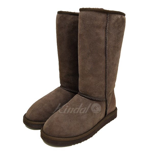 CLASSIC TALL mouton boots chocolate size: US 6