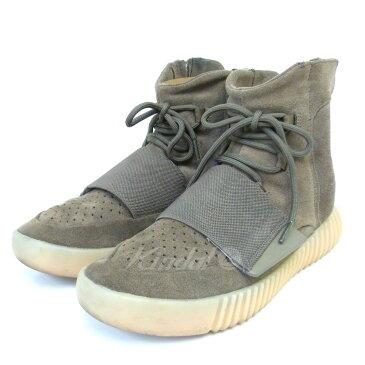 【中古】adidas originals by Kanye West YEEZY BOOST 750 BY2456 ハイカットスニーカー ブラウン サイズ:26.0cm 【送料無料】 【190318】(アディダスオリジナルス バイ カニエウエスト)