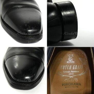 【中古】SCOTCH GRAIN 「インペリアルII 936BL」ストレートチップシューズ ブラック サイズ:25 1/2 【送料無料】 【041118】(スコッチグレイン)