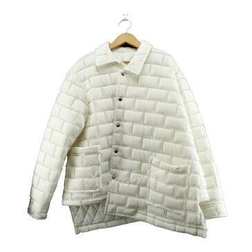 【中古】COMME des GARCONS HOMME PLUS 2018AW スナップボタンジャケット ホワイト サイズ:L 【送料無料】 【190119】(コムデギャルソンオムプリュス)