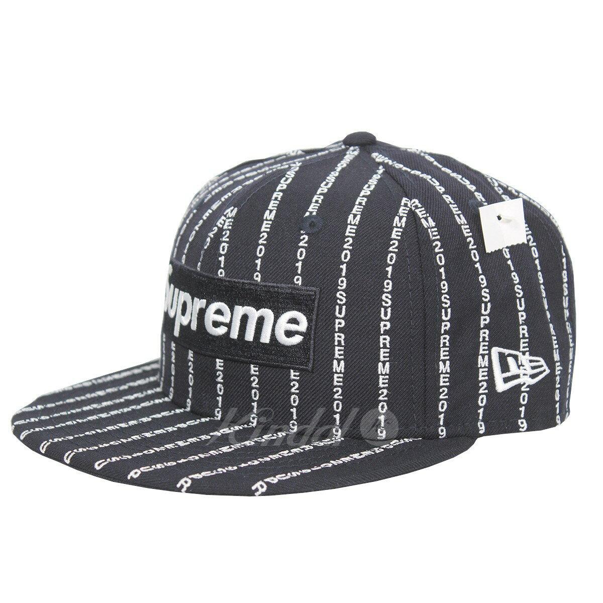 kindal  Supreme NEW ERA 19SS Text Stripe New Era Cap Box logo text ... d8af032012c