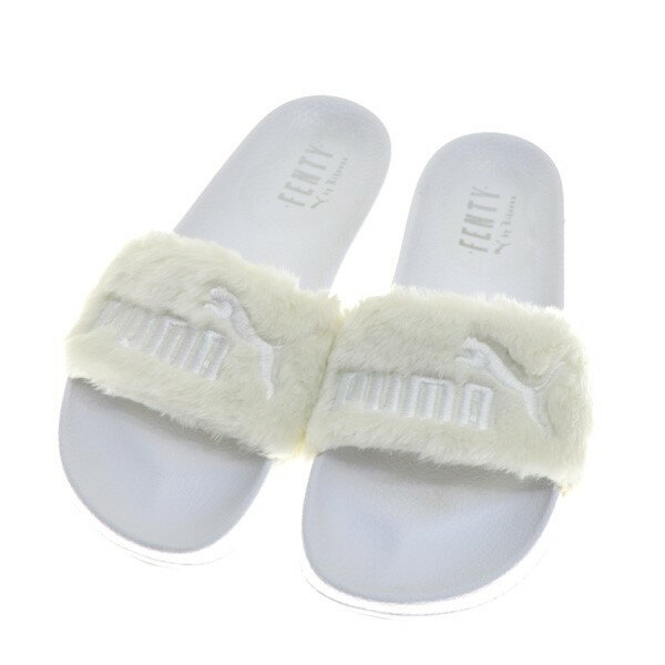 low priced ea5fc 937e1 puma X Fenty by Rahanna Leadcat Slides sandals white size: 25  (プーマフェンティバイリアーナ)