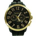 【中古】Tendence 【TY460011】GULLIVER 47 クォーツ式クロノグラフ腕時計 ブラック/ゴールド 【070719】(テンデンス)