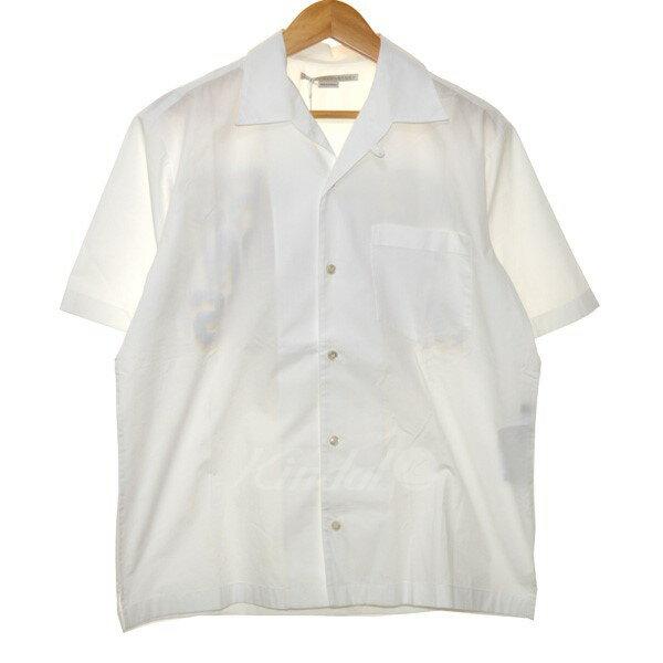 【中古】STELLA McCARTNEY オープンカラーシャツ ホワイト サイズ:38 【211019】(ステラマッカートニー)