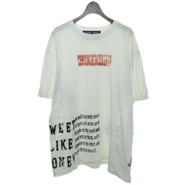【中古】cotemer ボックスロゴTシャツ ホワイト サイズ:- 【241019】(コートメール)