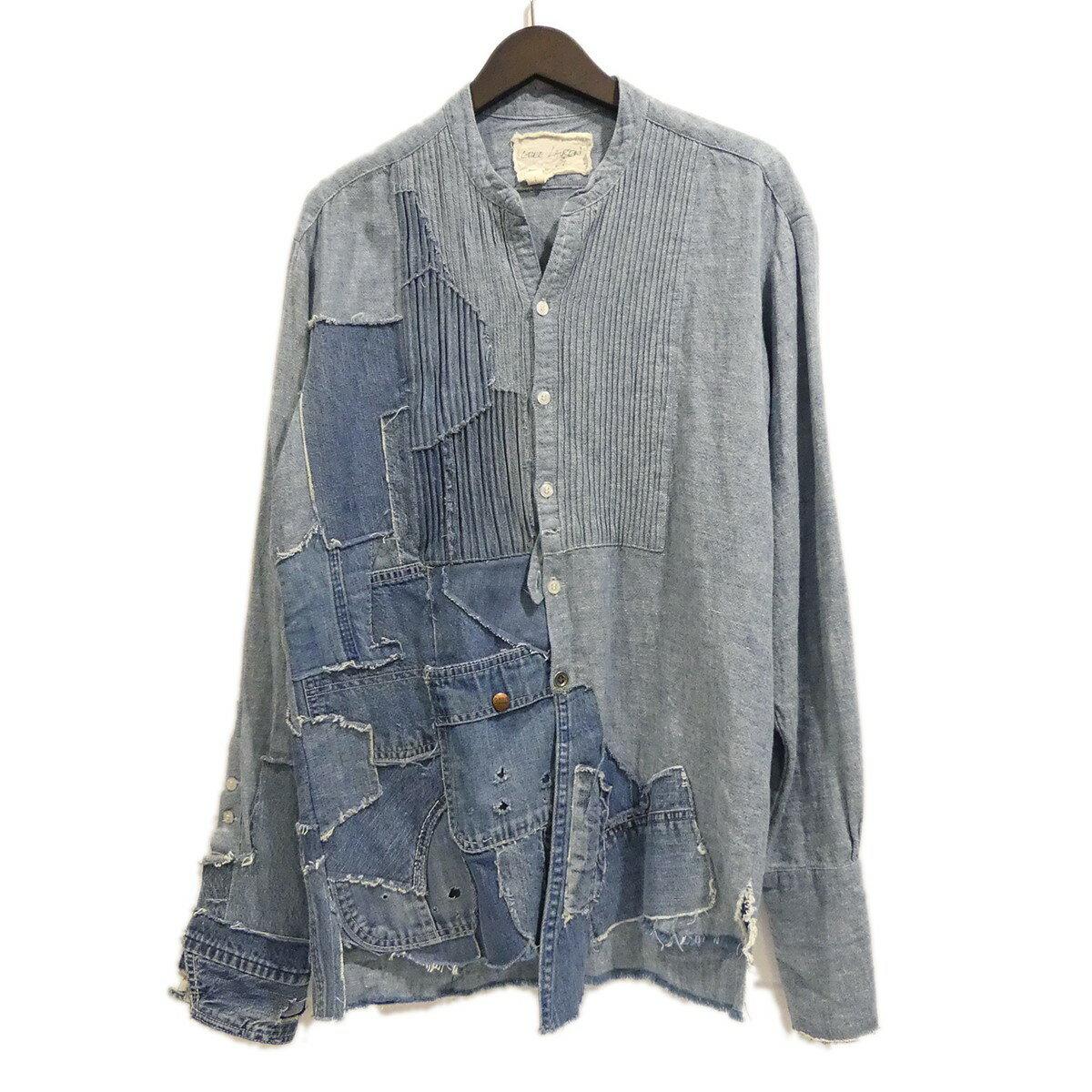 トップス, カジュアルシャツ Greg Lauren WATER FALLNINTAGE DENIM TUX SHIRT 1 211119