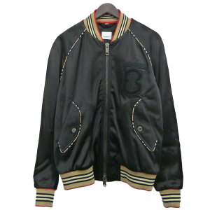 [Used] BURBERRY 19AW bomber jacket Black Size: 48 [Reviewed on April 16]