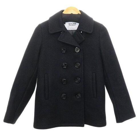 【中古】SCHOTT BROS Pコート ブラック サイズ:14 【291119】(ショットブロス)