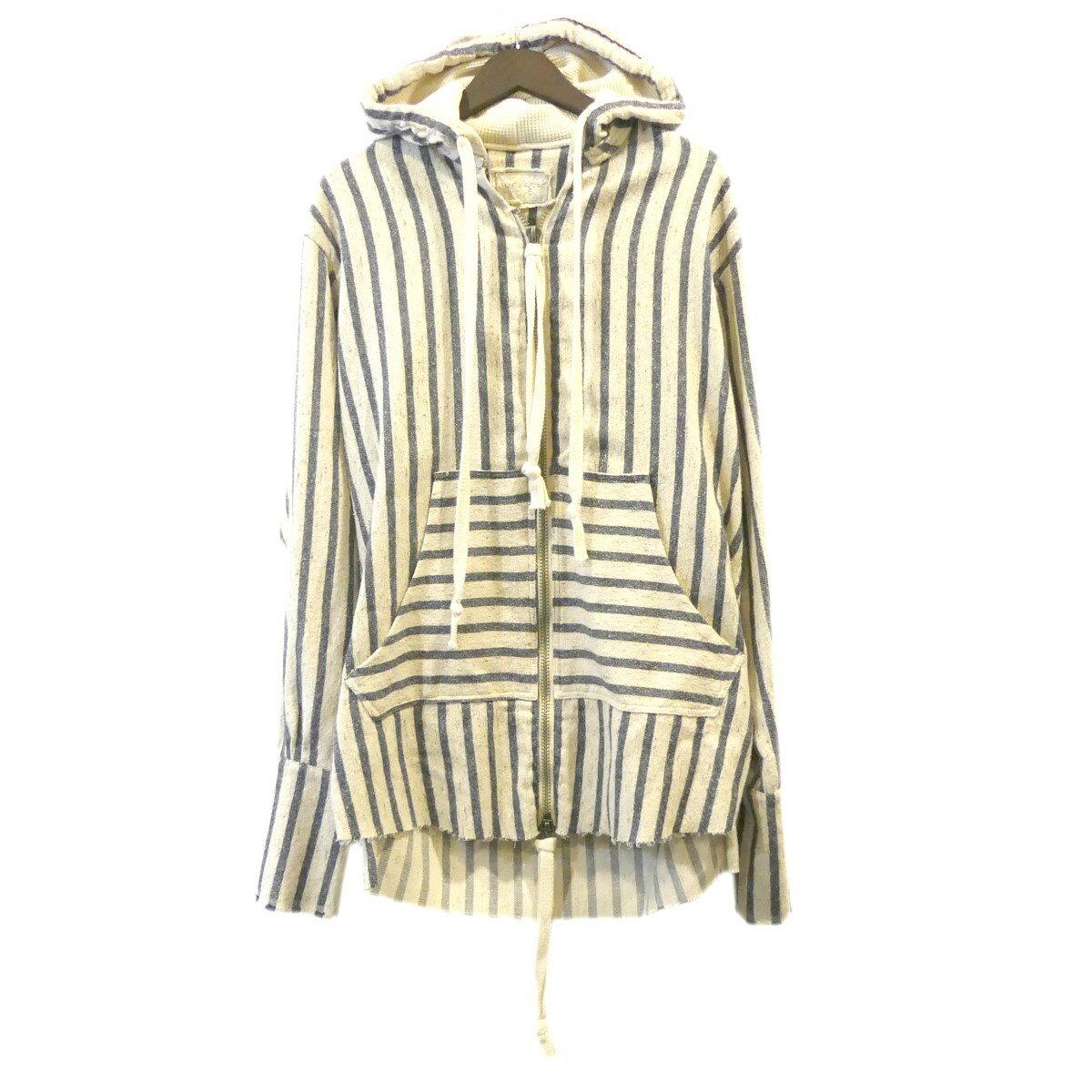 トップス, パーカー Greg Lauren Blanket Stripe Zip Front Studio Hoodie 2 191219