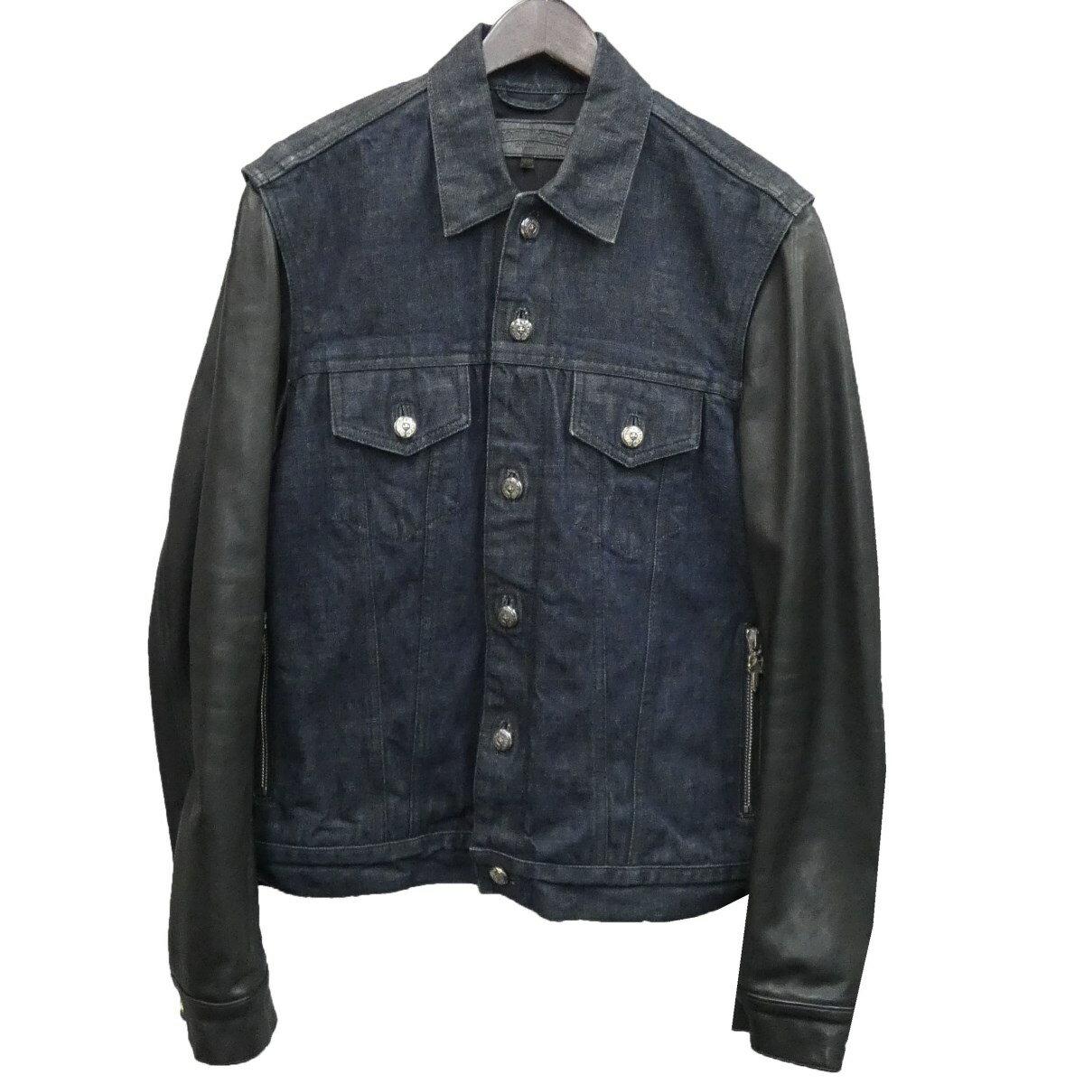 メンズファッション, コート・ジャケット CHROME HEARTS DENIM LEATHER SLEEVE FLERKNEE M 221219