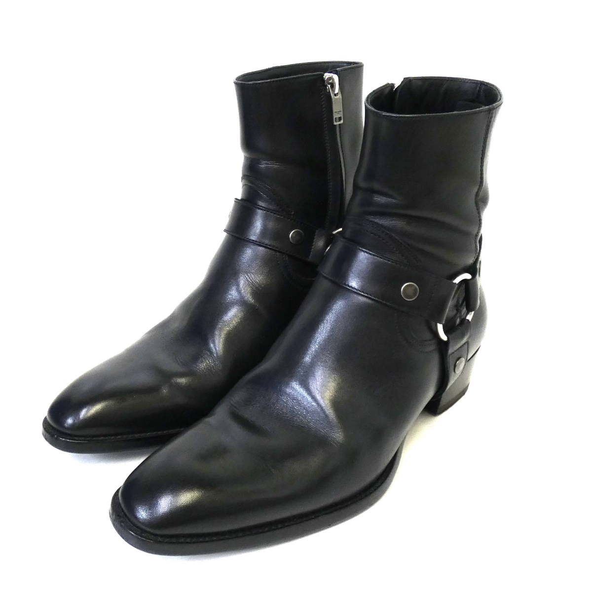 ブーツ, その他 SAINT LAURENT PARIS WYATT 40 HARNESS BOOTS40 41 160120