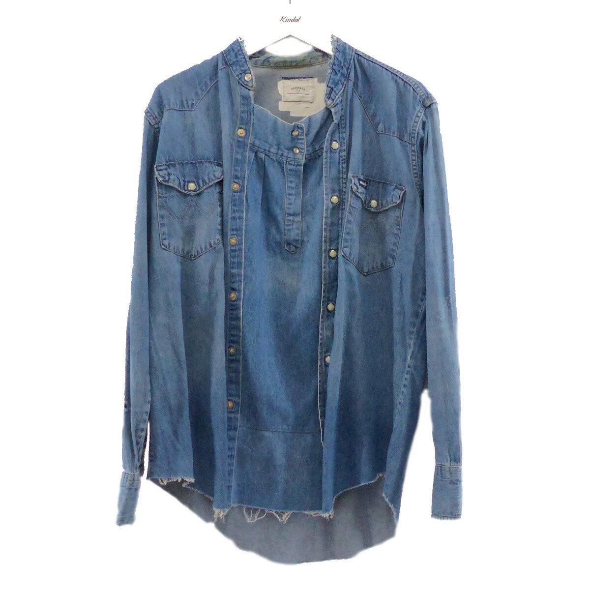 トップス, カジュアルシャツ OLD PARK2015SS PULLOVER SHIRT DENIM WESTERN 1012