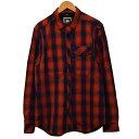 【中古】G-STAR RAW ネルシャツ チェックシャツ レッド×ネイビー サイズ:L 【250820】(ジースター・ロウ)
