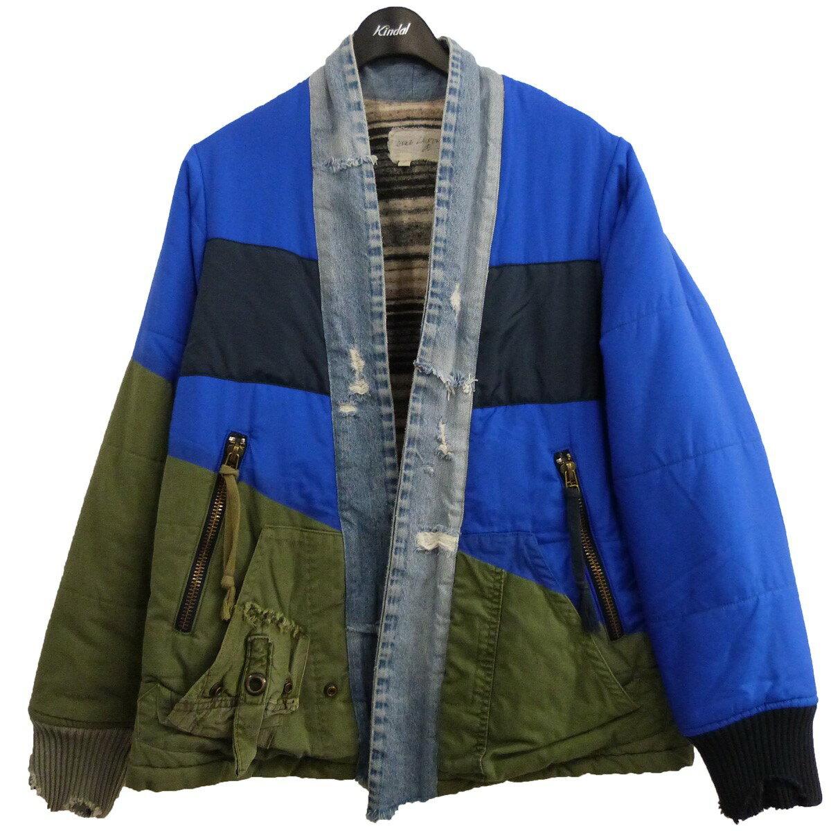 メンズファッション, コート・ジャケット GREG LAUREN 19AWARMY KIMONO PUFFY 2 131220