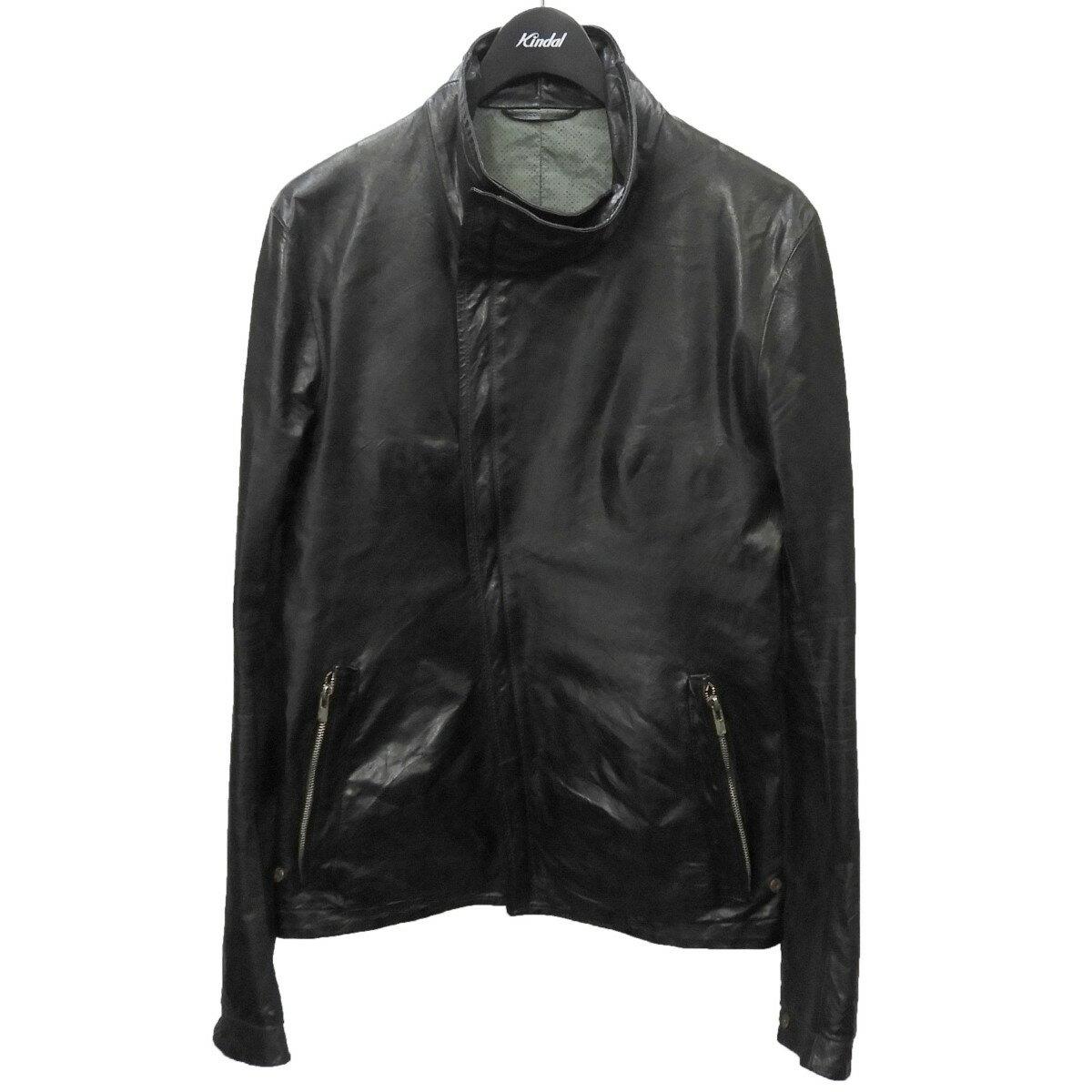メンズファッション, コート・ジャケット CAROL CHRISTIAN POELL HIGH NECK LEATHER JACKET 46 240121