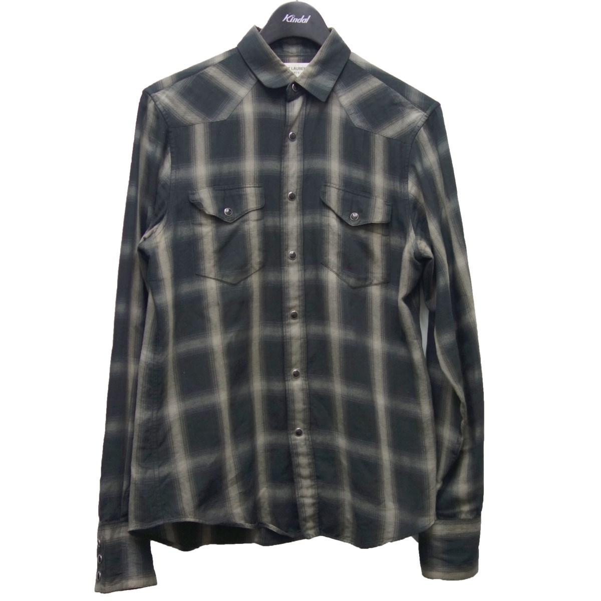 トップス, カジュアルシャツ SAINT LAURENT PARIS13AW 37 14 12 511