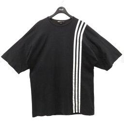 【中古】Y-3 3-STRIPES TEE Tシャツ ブラック サイズ:M 【230421】(ワイスリー)