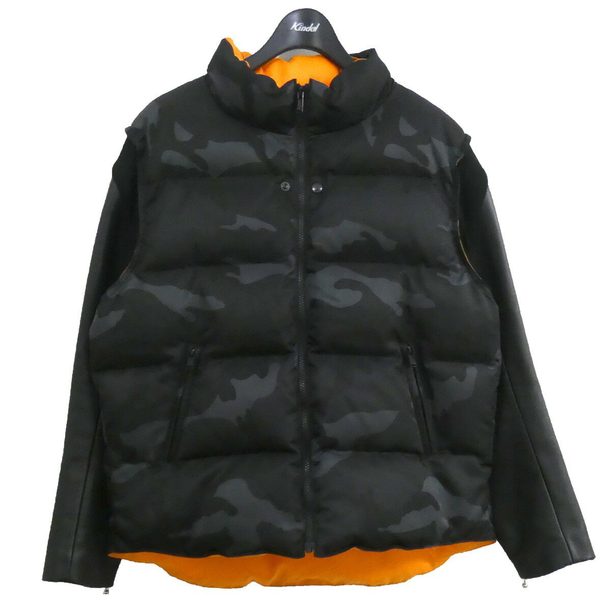 メンズファッション, コート・ジャケット UNDER COVERVALENTINO 21SS30th Anniversary Leather sleeve down jacket 3 010521