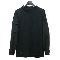 【中古】WTAPS 16AW 「TACTICAL SWEAT」 袖ポケット切替長袖Tシャツ ブラック サイズ:M 【020521】(ダブルタップス)