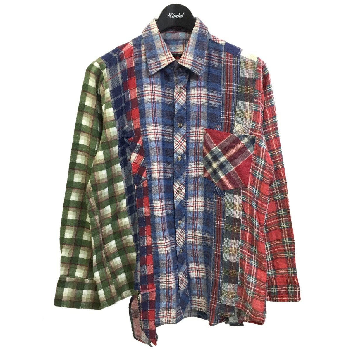 トップス, カジュアルシャツ Rebuild by Needles 7 cut Flannel Shirt XS 130721
