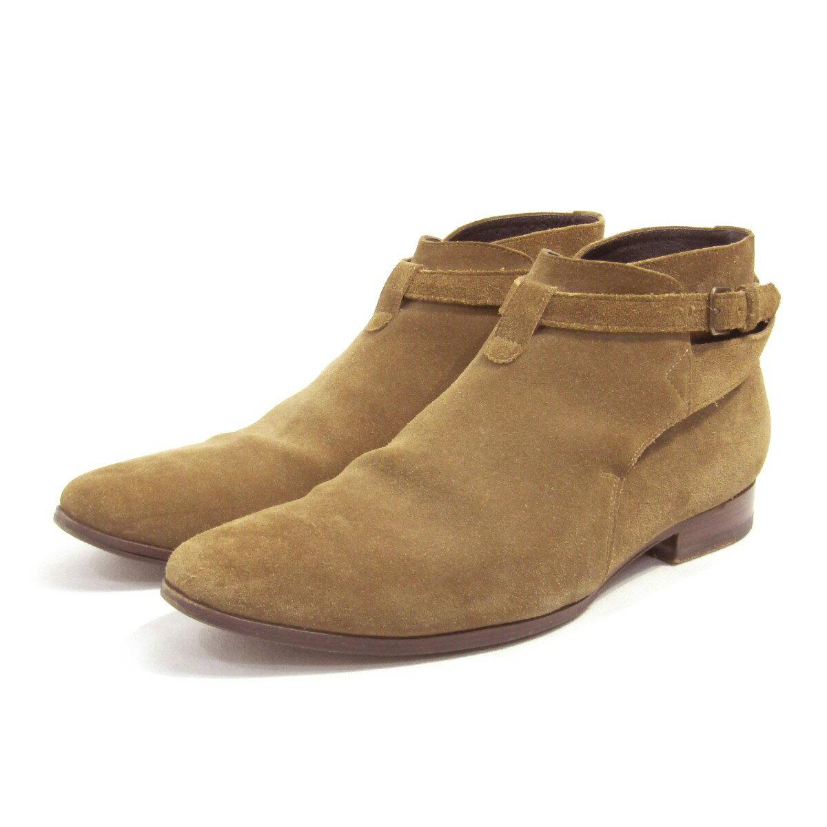 メンズ靴, その他 SAINT LAURENT PARIS JODHPUR SUEDE ANKLE BOOTS 41 280721