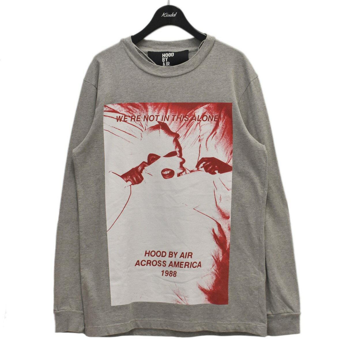 トップス, Tシャツ・カットソー HOOD BY AIR ACROSS AMERICA LONG SLEEVE AMERICA TEE T S 300821