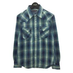 【中古】BLUE BLUE ウエスタンチェックシャツ ネイビー サイズ:1 【090921】(ブルーブルー)
