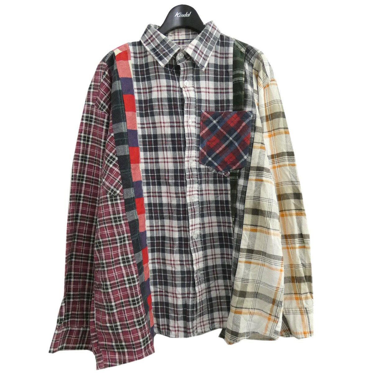 トップス, カジュアルシャツ Rebuild by Needles Flannel Shirt 7 Cuts Shirt L 161021