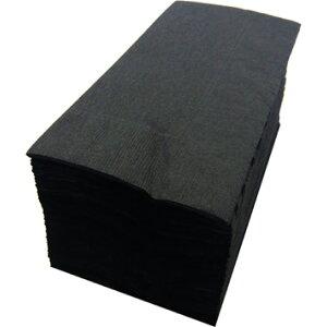 【紙ナプキン】8つ折り2PLYナプキン「ブラック」(50枚)