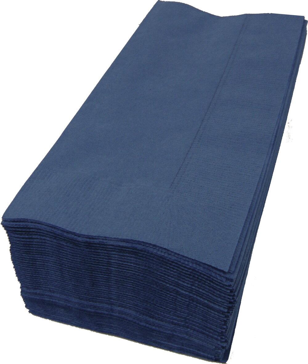 【紙ナプキン】8つ折り2PLYナプキン「ダークブルー」(1ケース2000枚)