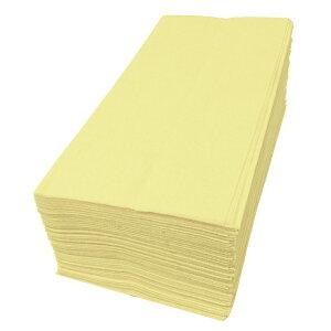 【紙ナプキン】8つ折り2PLYナプキン「イエロー」(50枚)