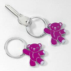 【期間限定30%OFFセール!】TROIKA-キーリングテディ ピンク TEDDY