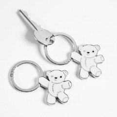 【期間限定30%OFFセール!】TROIKA-キーリングテディ ホワイト TEDDY