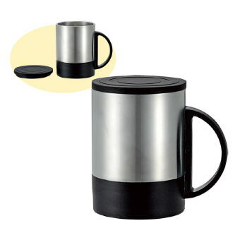 蓋付きステンレス製マグカップ 200ml 51606