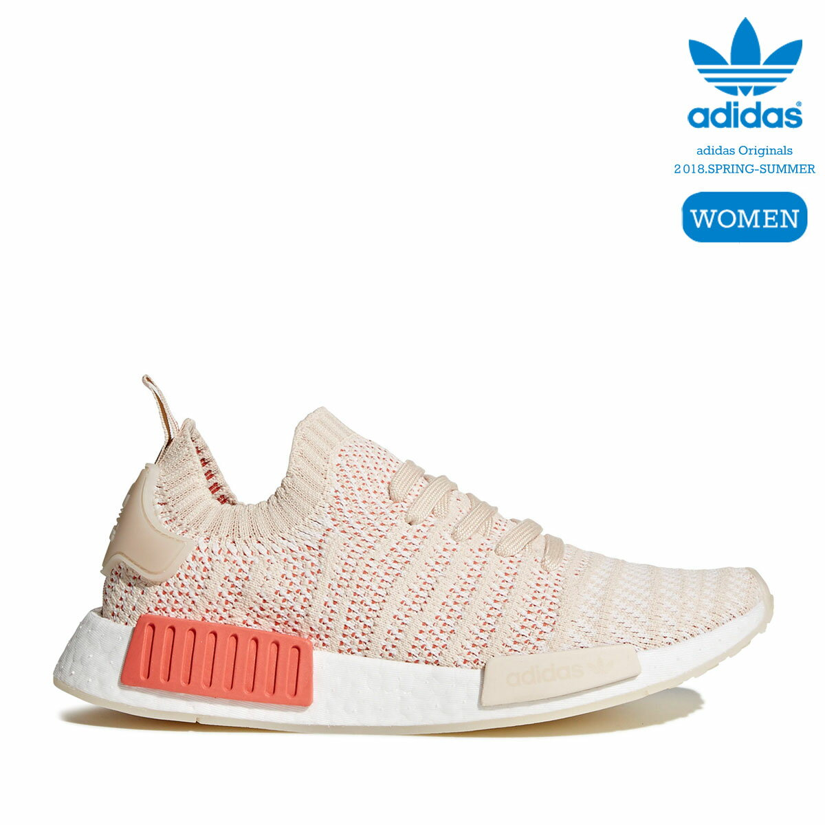 レディース靴, スニーカー adidas Originals NMDR1 STLT PK W (LinenCrystal WhiteRunning White) 18SS-I20sale0123
