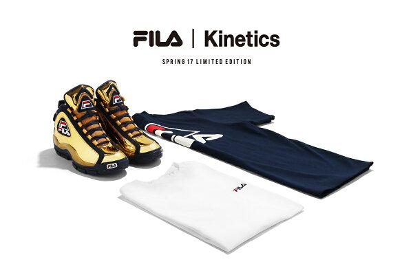 FILA×KineticsLogoT-Shirt(2色展開)【メンズサイズ】【17SP-I】