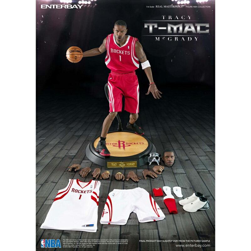 ENTERBAY 1/6 SCALE REAL MASTERPIECE COLLECTIBLE FIGURE NBA COLLETION TRACY McGRADY (エンターベイ 1/6 リアルマスターピース コレクティブル フィギュア NBAコレクション:トレイシー・マグレディ)(RED)【フィギュア】【T-MAC】【RM-1067】16FA-I:Kinetics