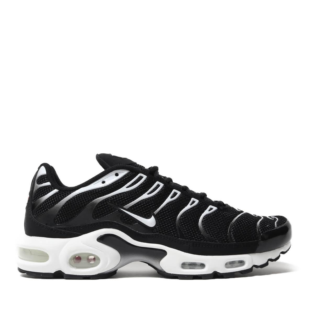 メンズ靴, スニーカー NIKE AIR MAX PLUS(BLACKWHITE-BLACK-RFLCT SILVER)( )19SU-I