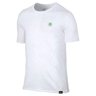 耐克 S + 貼身品牌不銹鋼三通 (耐克 S + 節奏品牌的短袖 T 恤) 白/白 16SU-我